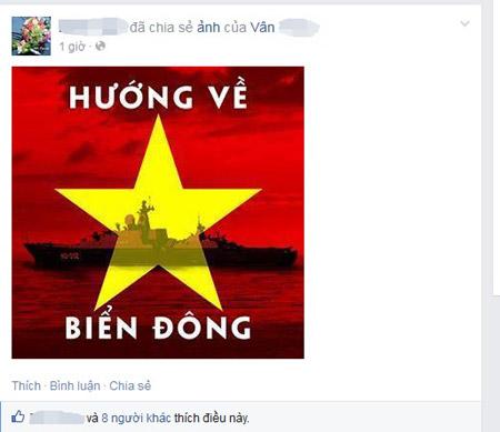 Cộng đồng mạng đổi avatar hướng về Biển Đông